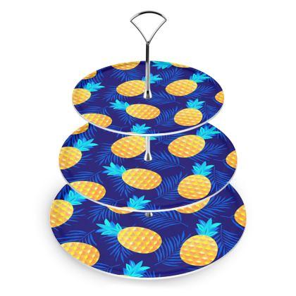 pineapple fun cake stand