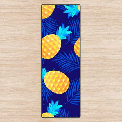 pineapple fun yoga mat
