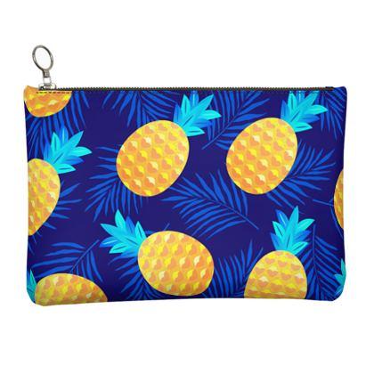 pineapple fun clutch bag