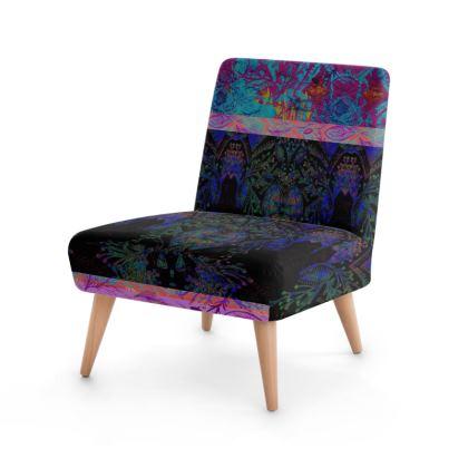 Dark Doodle Digitally Printed Chair