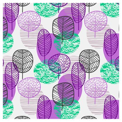 purple teal trees crossbody bag