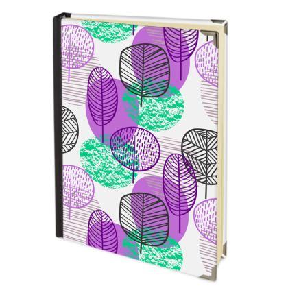 purple teal trees journal