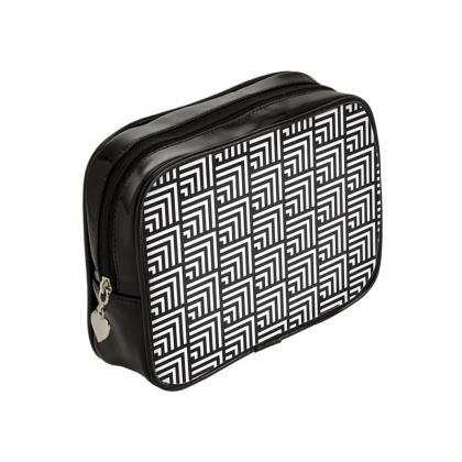 minimal geometric make up bag