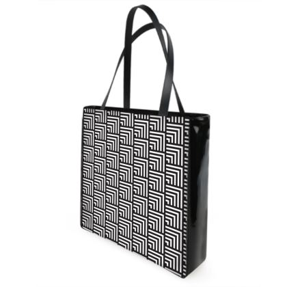 minimal geometrical shopper bag