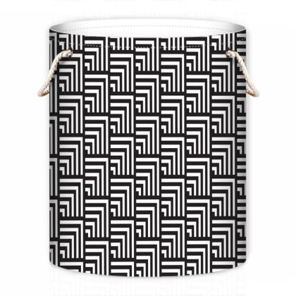 minimal geometric laundry bag