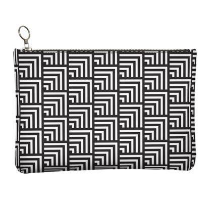 minimal geometric clutch bag
