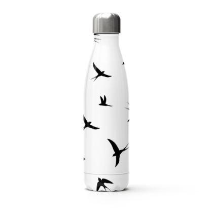 minimal birds thermal bottle