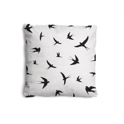 minimal birds pillow set