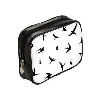 minimal birds make up bag
