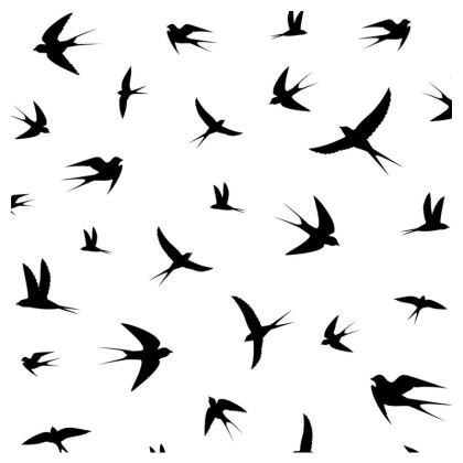 minimal birds clutch bag