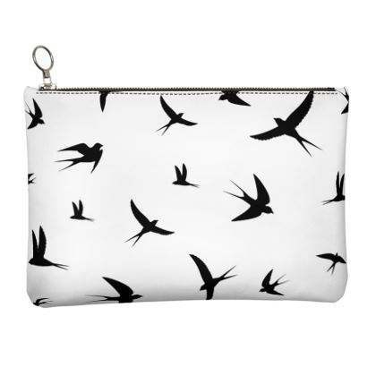 minimal birds clutch bag
