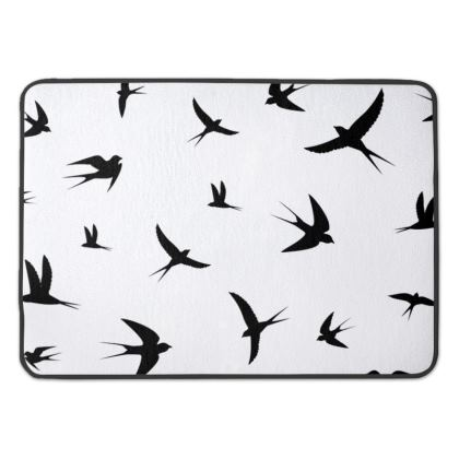 minimal birds bath mat