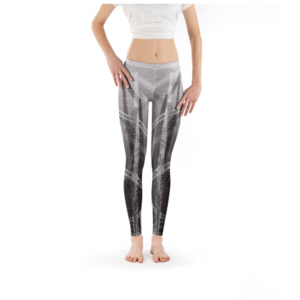 Leggings in Sepia with Gasometers Pattern