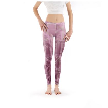 Leggings in Pink with Gasometer Pattern