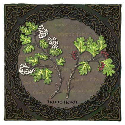 Celtic Hawthorn Scarf, Wrap or Shawl