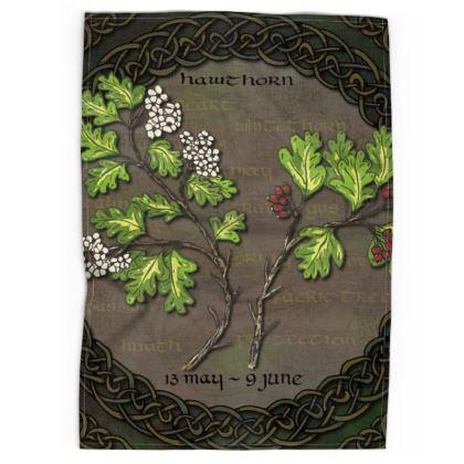 Tree Calendar Hawthorn Tea Towel