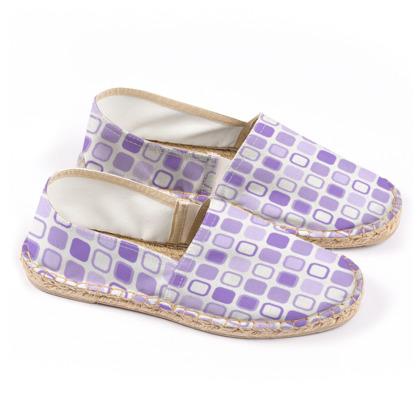 Retro Art Design Purple Espadrilles