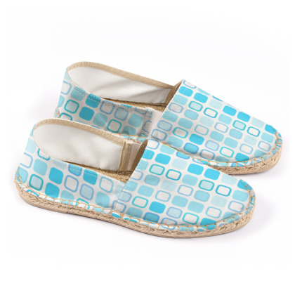 Retro Art Design Blue Espadrilles