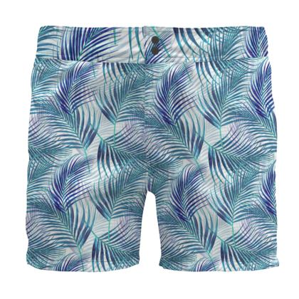 Tropical Garden in Blue Collection Board Shorts