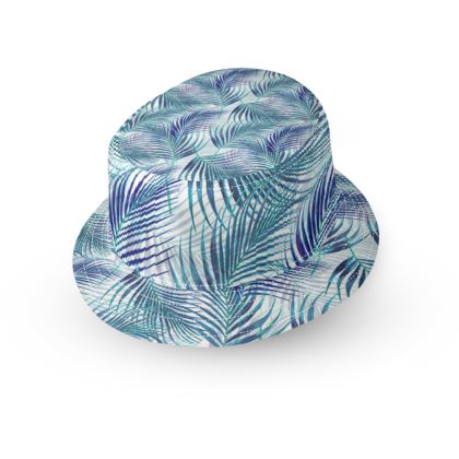 Tropical Garden in Blue Collection Bucket Hat