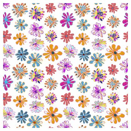 Rainbow Daisies Collection Tablecloth