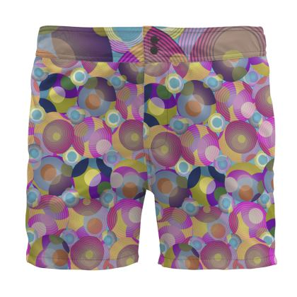Moon Collection on blue Board Shorts
