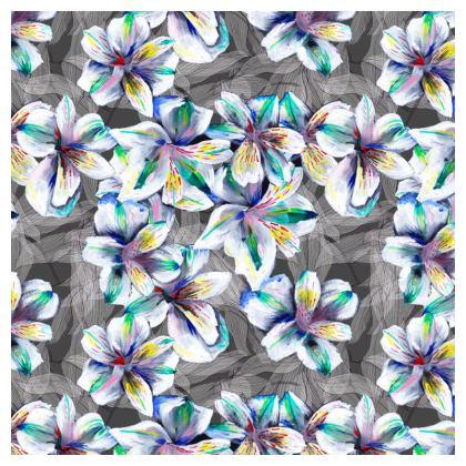 Painted Alstroemeria Cushion