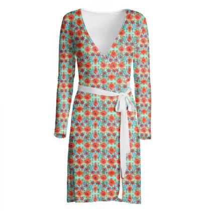 English Garden Wrap Dress