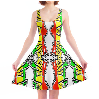 NEEDLE AND PINS CULTURE - Skater Dress