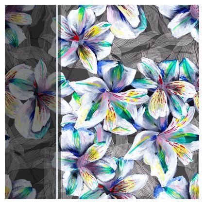 Colourful alstroemeria cushion