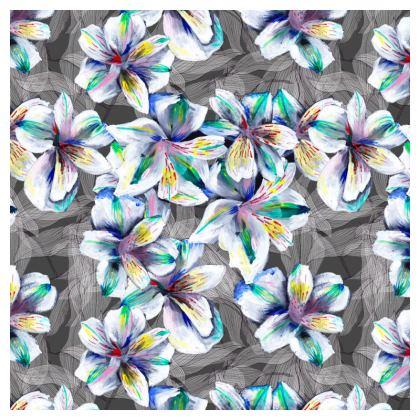 Colourful alstroemeria full cushion