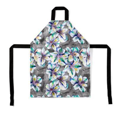 Colourful alstroemeria apron