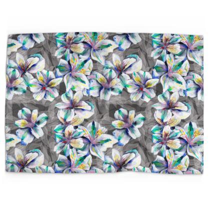 Colourful alstroemeria tea towel