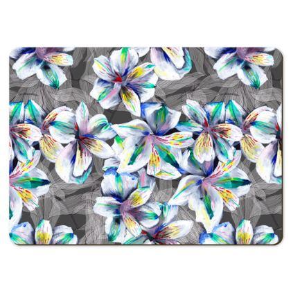 Colourful alstroemeria place mats