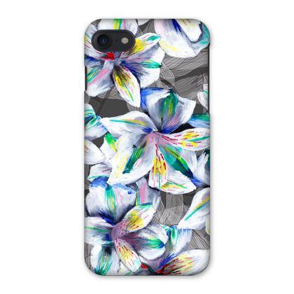 Colourful alstroemeria phone case