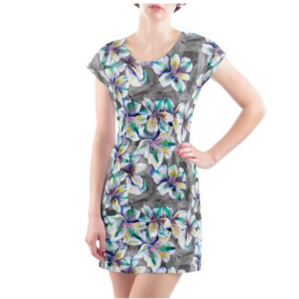 Colourful alstroemeria t-shirt dress