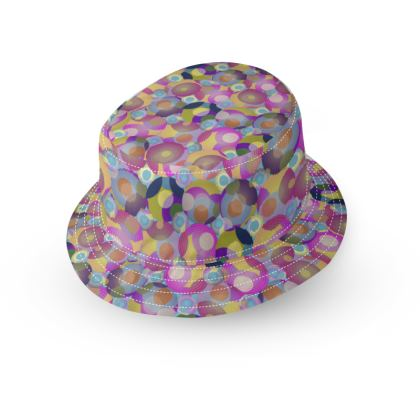 Moon Collection on blue Bucket Hat