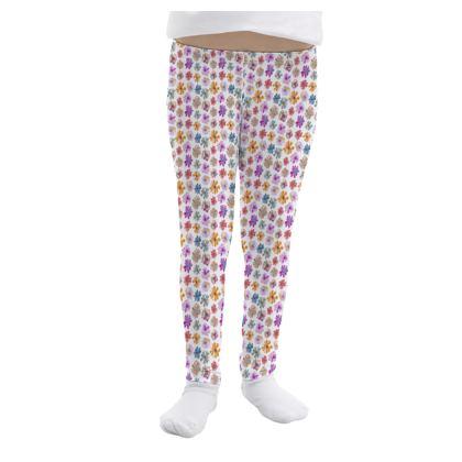 Rainbow Daisies Collection Girls Leggings