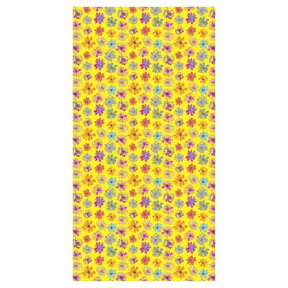 Rainbow Daisies Collection on yellow Girls Leggings