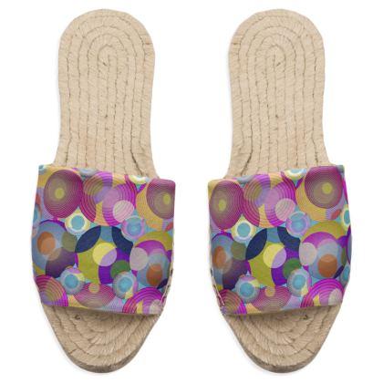 Moon Collection on blue Sandal Espadrilles
