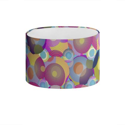 Moon Collection on blue Drum Lamp Shade