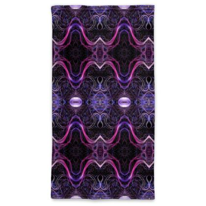 Electric Violet Pull Up Face Mask Scarf