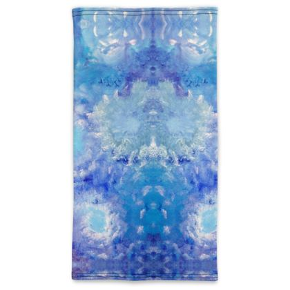 Sky Flowers Pull Up Face Mask Scarf