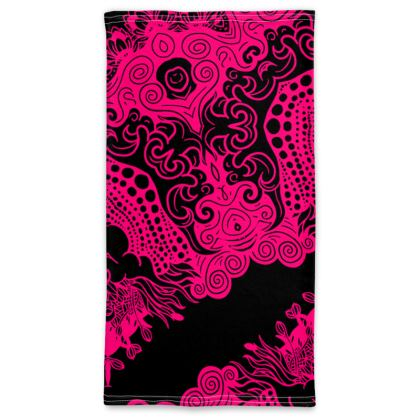 Pink Pattern Neck Tube Scarf