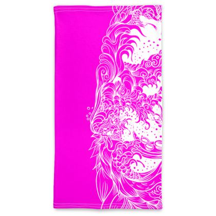 wave white pink Neck Tube Scarf