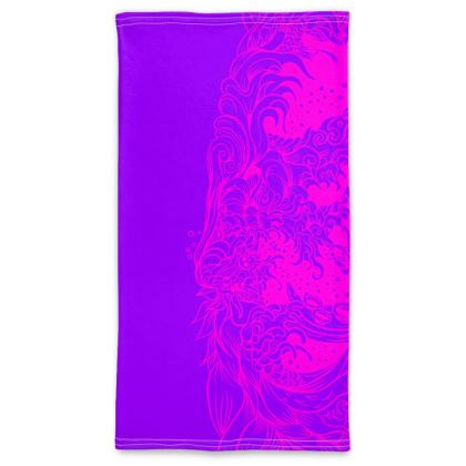 wave purple pink Neck Tube Scarf