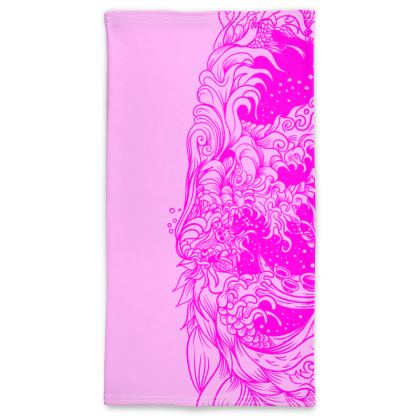 wave Pink Pink Neck Tube Scarf