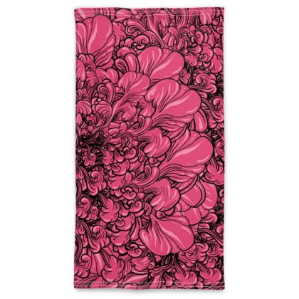 Pink Flower Neck Tube Scarf