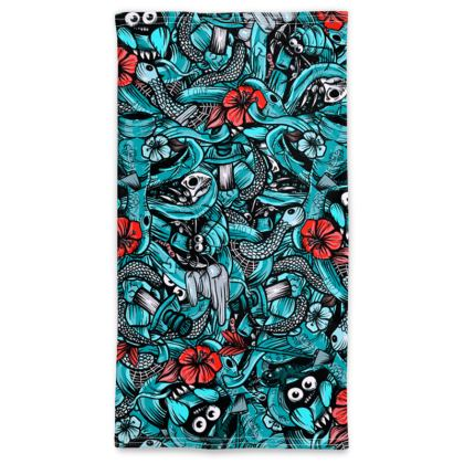 Doodles blue Neck Tube Scarf