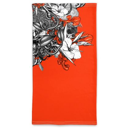 Floral orange Neck Tube Scarf
